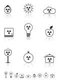 Radiation icons set. Stock Photography