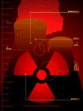 Radiation leak background Royalty Free Stock Photography