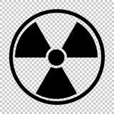 Radiation nuclear symbol Stock Image