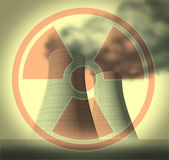 Radiation and radioactive symbol Stock Photo