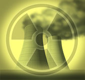 Radiation and radioactive symbol Royalty Free Stock Images