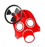 Radiation red mask Stock Photos