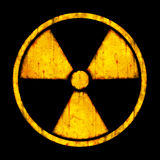 Radiation – round sign Stock Images