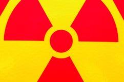 Radiation safety sign Stock Image