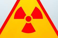 Radiation safety sign stock photo