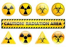 Radiation set Royalty Free Stock Images
