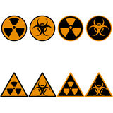 Radiation Set Icons Royalty Free Stock Image