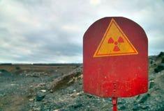 Radiation sign. A warning sign of radiation contamination Royalty Free Stock Photos