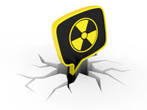 Radiation Sign Stock Image