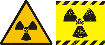 Radiation - sign Stock Images