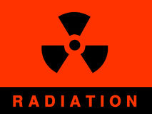 Radiation sign royalty free illustration
