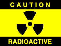 Radiation sign stock illustration