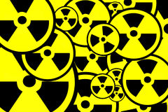 Radiation sign background Stock Photo
