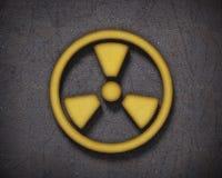 Radiation sign background stock photo