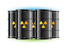 Radiation sign barrel Royalty Free Stock Photography