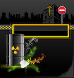 Radiation sign barrel Royalty Free Stock Images