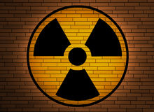 Radiation sign. Stock Photo