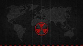 Radiation sign danger global catastrophe royalty free illustration