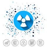 Radiation sign icon. Danger symbol. Stock Images