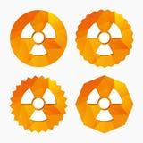 Radiation sign icon. Danger symbol. Royalty Free Stock Image