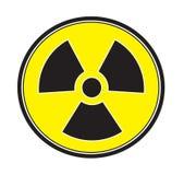 Radiation sign icon vector. Isolated white background Stock Image