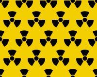 Radiation sign pattern Stock Photo