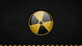 Radiation sign rotates around its axis royalty free illustration