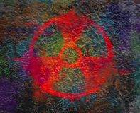 Radiation sign symbol in the form of an explosion Royalty Free Stock Photography