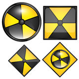 Radiation Sign Vectors Royalty Free Stock Photos