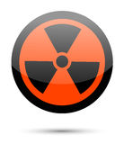 Radiation sign on white Stock Image