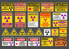 Radiation signs Stock Photography
