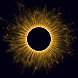 Radiation. Solar Wind, Eclipse. Power Energy. Futuristic Flash. Energy Flow. Plasma. Glow Effect. Glint Cosmic Rays Royalty Free Stock Photos