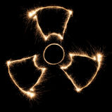 Radiation sparkler. On dark, fan Royalty Free Stock Photography