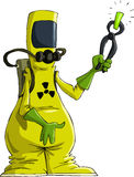 Radiation suit. Cartoon man in radiation suit, vector Royalty Free Stock Photos