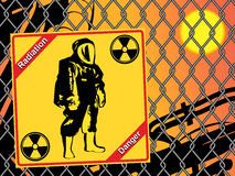 Radiation suit - sign radiation. Royalty Free Stock Photos