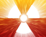 Radiation symbol Royalty Free Stock Images