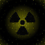 Radiation symbol background Stock Photo