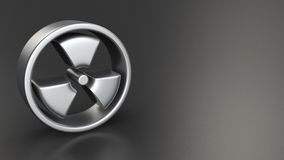Radiation symbol on black Stock Photography