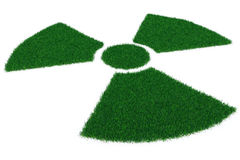 Radiation symbol from grass Royalty Free Stock Photography