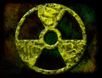 Radiation, symbol, nuclear Royalty Free Stock Photos