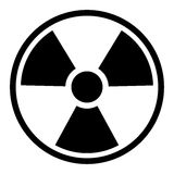 Radiation Symbol / Sign. Basic Radiation Symbol / Sign isolated on a white background with clipping path. Perfect for a design element Stock Photo