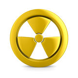 Radiation symbol on white. Isolated 3D. Image Royalty Free Stock Images
