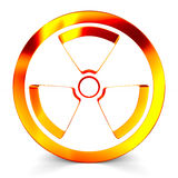 Radiation symbol on white. Isolated 3D Stock Photo
