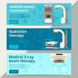 Radiation therapy vector concept. Cancer treatment Royalty Free Stock Photography