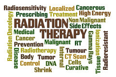 Radiation Therapy. Word cloud on white background Stock Photo