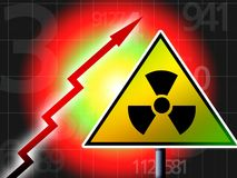 Radiation up Stock Image