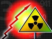 Radiation up. Red alert illustration concept royalty free illustration