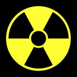 Radiation warning Stock Images