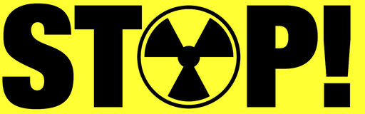 Radiation warning Stock Photos