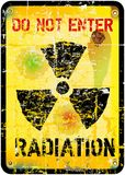 Radiation warning Royalty Free Stock Photo